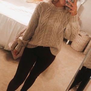 AE cream knit oversized sweater